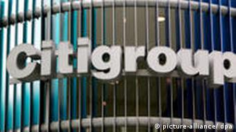 Logo am Gebäude der Citigroup in New York (Foto: dpa)