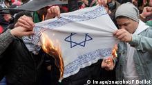 Deutschland Israel Fahne wird verbrannt