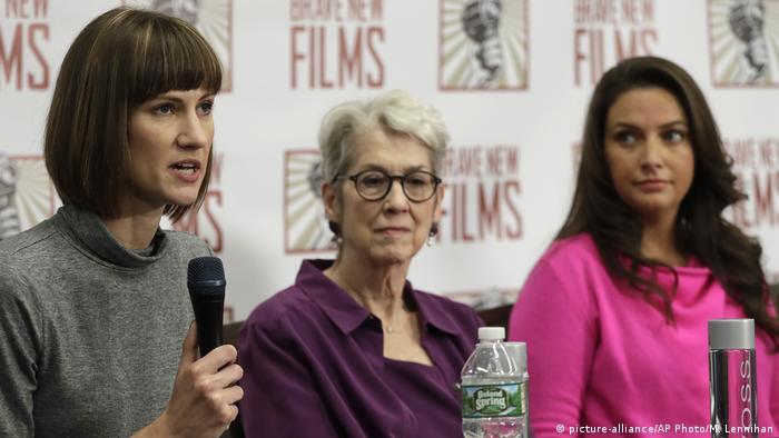 USA Rachel Crooks, Jessica Leeds und Samantha Holvey in New York