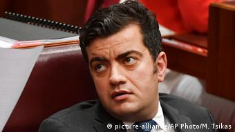 Australien Politiker Sam Dastyari in Canberra (picture-alliance/AP Photo/M. Tsikas)