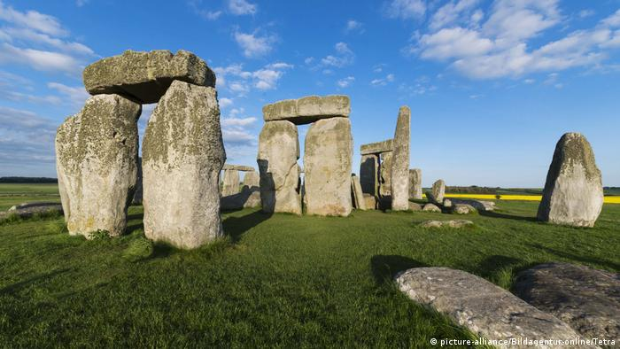 The monoliths of Stonehenge in Wiltshire