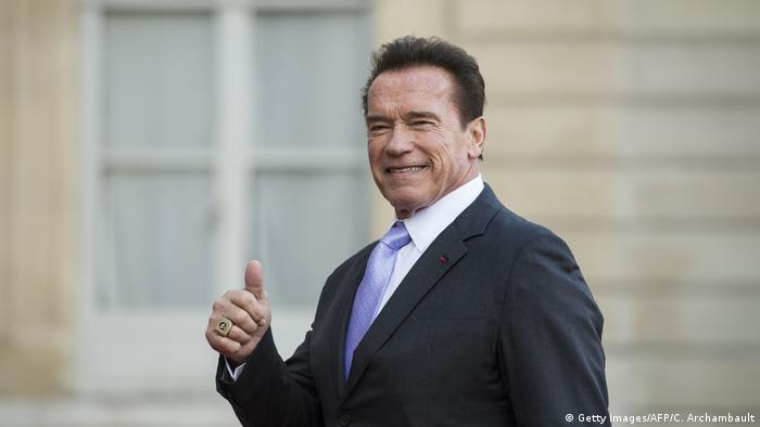 Frankreich One Planet Summit in Paris Schwarzenegger im Elysee Palast (Getty Images/AFP/C. Archambault)