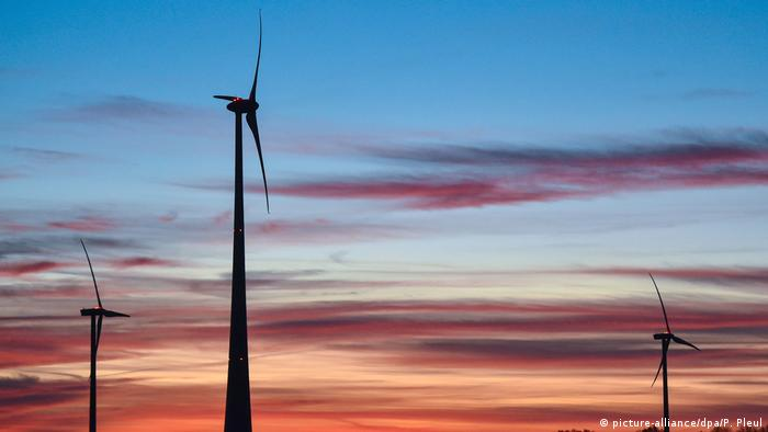 Stock photo of a wind farm in Germany