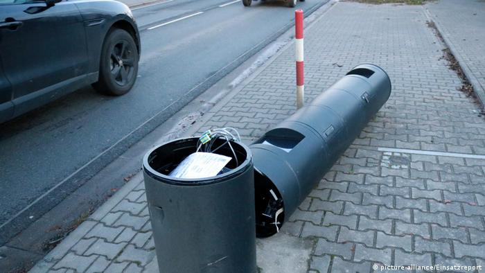 German tractor driver mows down six speed cameras