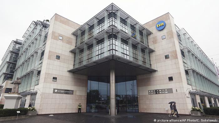 Polen TVN24-Hauptgebäude in Warschau