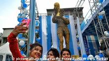 Indien Kalkutta - Maradona-Statue in Indien enthüllt (picture alliance/dpa/Pacific Press/ZUMA Wire/S. Purkait)