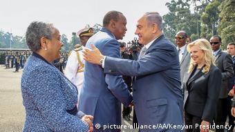 Kenia Besuch des israelischen Ministerpräsidenten Netanjahu (picture-alliance/AA/Kenyan Presidency)