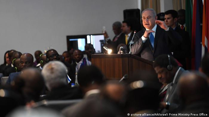 Netanyahu speaking at the ECOWAS summit in June 2017 (picture-alliance/AA/Israeli Prime Ministry Press Office)