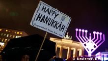 Deutschland Chanukkah Fest Brandenburger Tor in Berlin