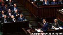Polen Neuer Ministerpräsident Mateusz Morawiecki im Parlament