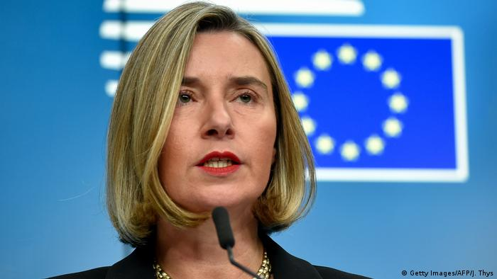 Federica Mogherini Hohe Vertreterin der EU für Außen- und Sicherheitspolitik (Getty Images/AFP/J. Thys)