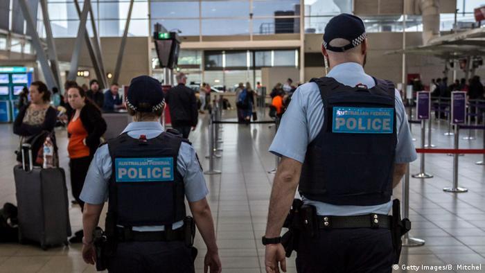 Australian police at Sydney airport