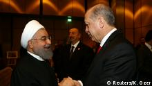 13.12.2017+++ Turkish President Tayyip Erdogan meets with Iran's President Hassan Rouhani during an extraordinary meeting of the Organisation of Islamic Cooperation (OIC) in Istanbul, Turkey, December 13, 2017. REUTERS/Kayhan Ozer/Pool