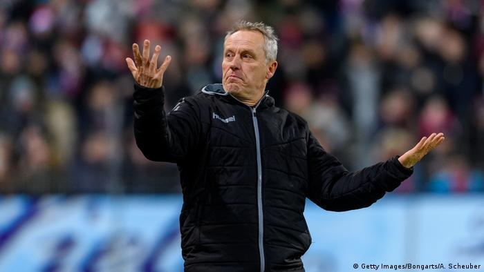 Bundesliga Freiburg vs Borussia Moenchengladbach Christian Streich (Getty Images/Bongarts/A. Scheuber)