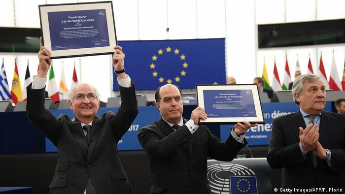 Europäisches Parlament in Straßburg Sacharow-Preis 2017 | Julio Borges & Antonia Ledezma