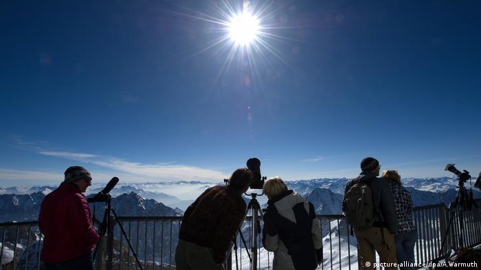 Deutschland, Zugspitze, Sonnenfinsternis