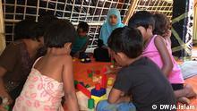Bangladesch, Rohingya Kinder erhalten eine Ausbildung in CFS