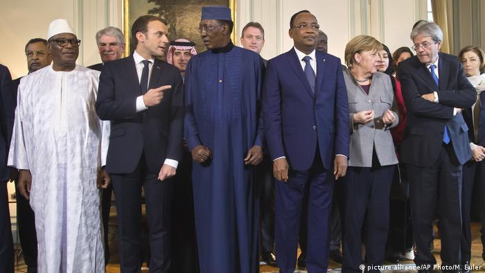 African and European leaders in Paris