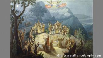 Η γιορτή της Φάτνης του Αγίου Φραγκίσκου (Λούντβιχ Έμιλ Γκριμ, 1836/37)