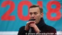 Russland Oppositionsaktivist Alexei Navalny