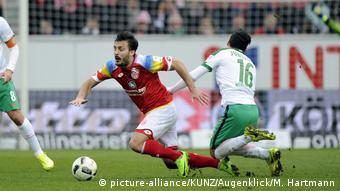 Spielszene Werder Bremen gegen FSV Mainz 05.