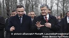 Ukraine Polen Petro Poroschenko und Andrzej Duda in Charkiw