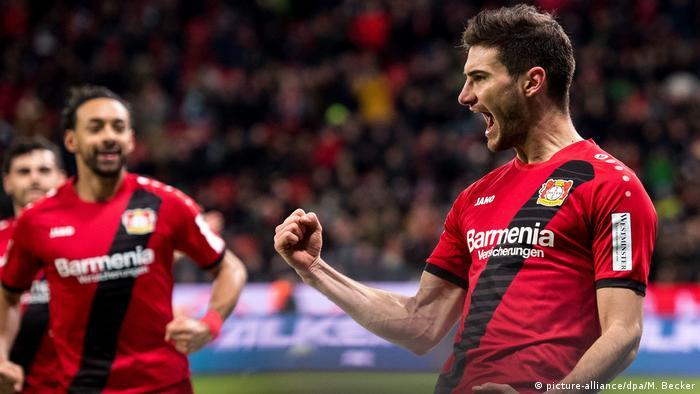 1. Bundesliga 16. Spieltag | Bayer 04 Leverkusen - Werder Bremen | TOR Leverkusen (picture-alliance/dpa/M. Becker)