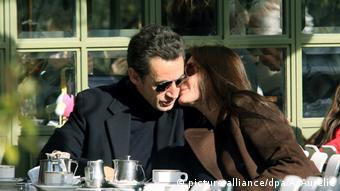 Carla Bruni and Nicolas Sarkozy in Paris