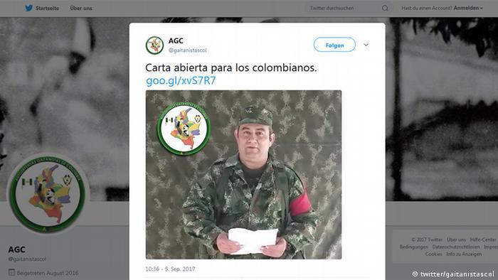 Screenshot Twitter AGC (twitter/gaitanistascol)