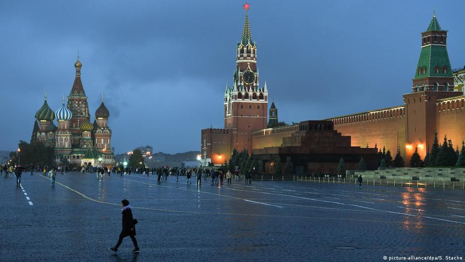 Moskau Roter Platz am Abend