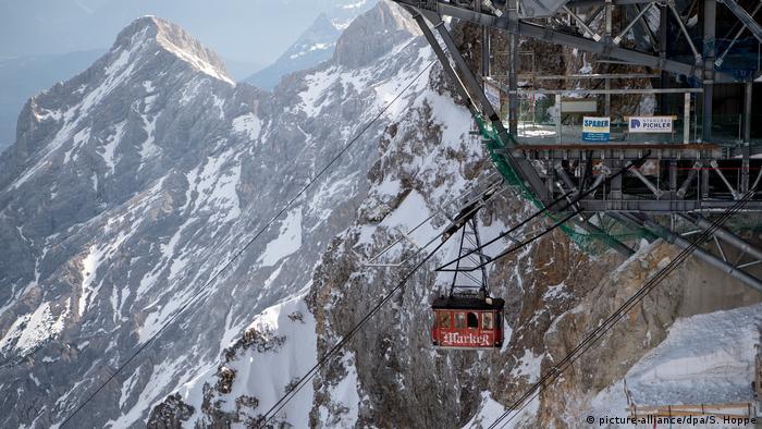 Deutschland Alpen Letzter Betriebstag der Eibsee-Seilbahn (picture-alliance/dpa/S. Hoppe)