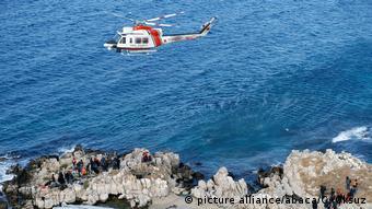 Ελικόπτερο της τουρκικής ακτοφυλακής εν ώρα περιπολίας