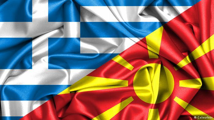 Flaggen von Griechenland und Mazedonien (Colourbox)