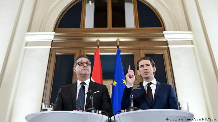 Гайнц-КрістіанШтрахета Себастіан Курц домовилися про створення нового уряду