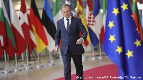 EU leaders' summit Brussels | Donald Tusk (picture-alliance/AP Photo/dpa/O. Matthys)