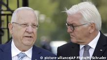 Israels Präsident Reuven Rivlin und Bundespräsident Frank-Walter Steinmeier