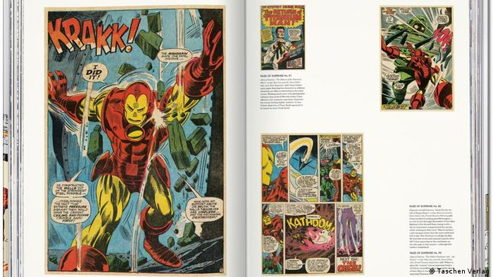 A page opened on The Marvel Age of Comics 1961-1978 (Taschen Verlag)