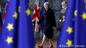 Gipfel der EU-Staats- und Regierungschefs | Theresa May (Reuters/Y. Herman)