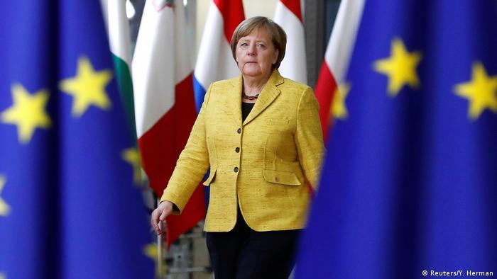 Gipfel der EU-Staats- und Regierungschefs | Angela Merkel (Reuters/Y. Herman)