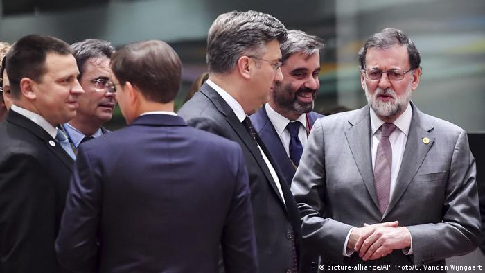 Gipfel der EU-Staats- und Regierungschefs (picture-alliance/AP Photo/G. Vanden Wijngaert)