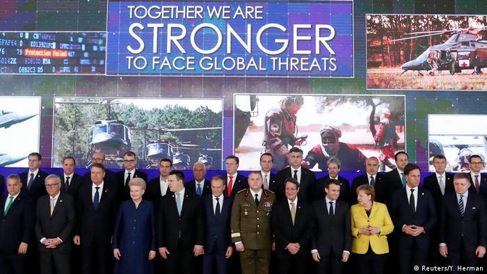 Лідери ЄС під час церемонії, присвяченій запуску PESCO