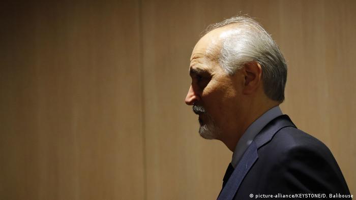 Bashar al-Jaafari, the Syrian government's chief negotiator, suggested that de Mistura has lost legitimacy in the talks