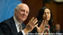 Staffan de Mistura, the UN's top mediator in peace talks to end the Syrian conflict
