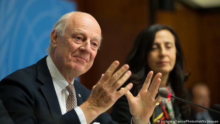 Staffan de Mistura, the UN's top mediator in peace talks to end the Syrian conflict