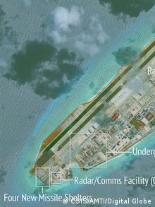 Fiery Cross Reef Spratly Islands (CSIS/AMTI/Digital Globe)
