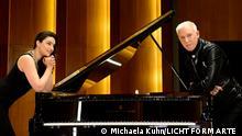 Pianistin Olga Scheps und H.P. Baxxter (Scooter) Fotocredit: Michaela Kuhn / LICHT FORM ARTE