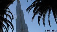 Dubai Borj, der höchste Wolkenkratzer der Welt, über 800 Meter hoch, befindet sich trotz Wirtschafskrise in der letzten Bauphase. Dubai Borj steht neben der Dubai Mall, der großten Mall außerhalb Nordamerikas. Dubai Mall wurde am 15. November 2008 eröffnet. Bilder von Javad Talee, April 2009