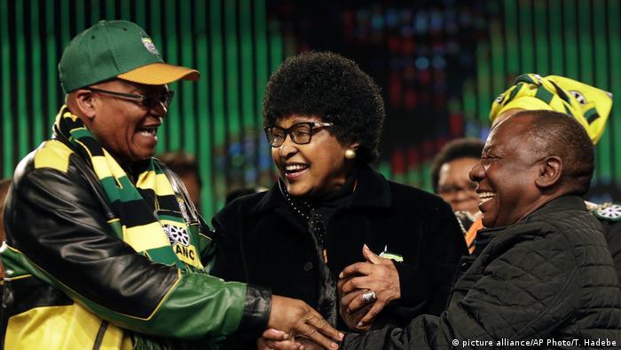 Südafrika Jacob Zuma Winnie Madikizela-Mandela Cyril Ramaphosa ANC
