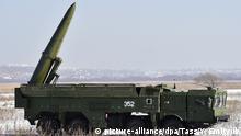 Eine russische Cruise Missile vom Typ Iskander-M - ein Vorläufer der neuen Rakete, die die NATO als SSC-8 bezeichnet