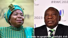 Nkosazana Dlamini-Zuma (left) and Cyril Ramaphosa (photo: Getty Images/AFP/R. Jantilal/G. Kirk)